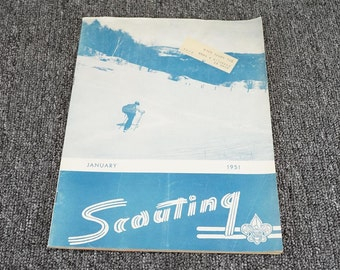 Vintage Scouting Magazine Boy Scouts Of America January Issue C.1951