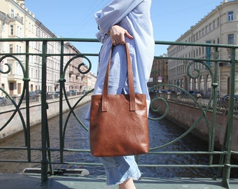 Leather Tote Bag, Tote Bag, Women Tote, Shopper Bag, Leather Bag, Handmade Leather Bag, Shoulder Bag, Brown Leather Bag, Women Leather Bag