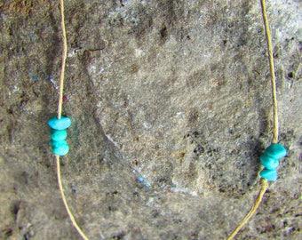 Turquoise & Hemp necklace