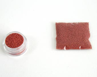 Micro beads glass Brown clear X 10 grams