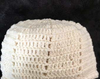 Cream Beanie, Biege Beanie, Gift For Her, Christmas Stocking Filler, Beanie, Adult Hat, Women's Hat, Winter Hat, Crochet Beanie, Hat,