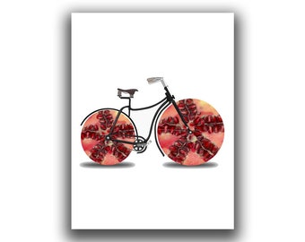 Pomegranate Kitchen Wall Art, Sweet Fruit Print, Exotic Fruit Wall Decor, Red Fruit Print, Healthy Wall Art, Fresh Fruit Kitchen Wall Art