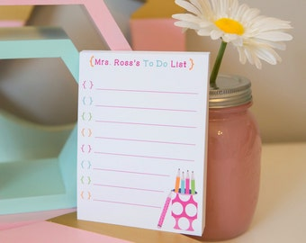 Personalized Teacher To Do List - Personalized Notepad - To Do List - Teacher Notepad - Teacher Gift - Teacher To Do List - School Supplies