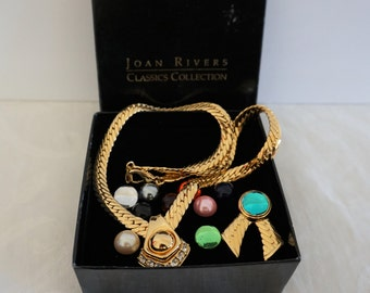 Joan Rivers Classics Collection Necklace Pendant With 11 Interchangeable Colors
