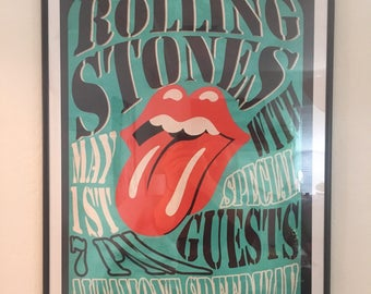 New Year SALE! 10%OFF! Framed Rolling Stone Poster