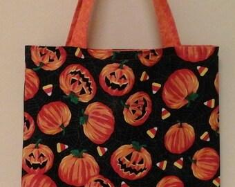 Pumpkin Reversible Trick or Treat Bag