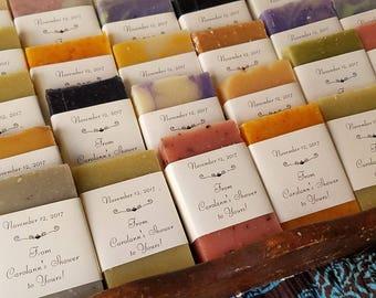 60 shower favors,  1 oz soaps, rustic wedding, soap favors, soap bar, wedding favors, favors, handcrafted soap, guest soaps, party favors