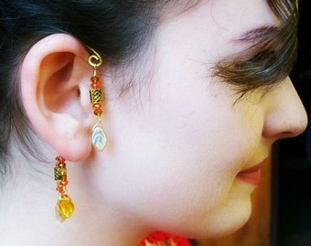 Fantasy Elemental Ear Cuff Autumn Leaves