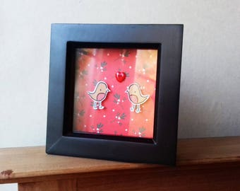 Christmas Frames - Robin Frames - Quirky Present - Valentine's