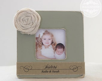 Sister GIFT Sisters Personalized Picture Frame Rustic Country Custom Frame Big Sister Little Sister