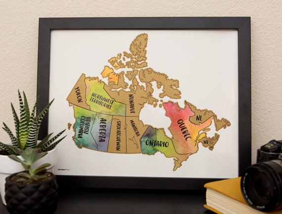 Sale scratch your travels canada map 11x14 in poster gumiabroncs Image collections