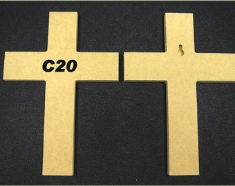 Fifty Unpainted 6'' x 9'' Crosses Made From 1/2'' MDF, Great for VBS, Free Shipping, VBS50-1