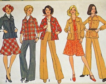 Simplicity 7096 - Size 14 Bust 36 - 1975 Jacket Pattern Only - Vintage Sewing Pattern
