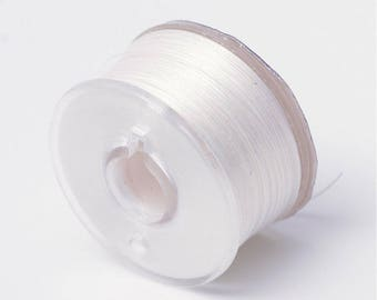 5 m white coated polyester yarn special seed 0.1 mm