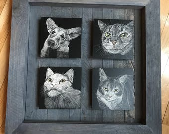 Custom multi-paneled pet scratchboard!!