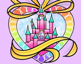 Disney Castle Print