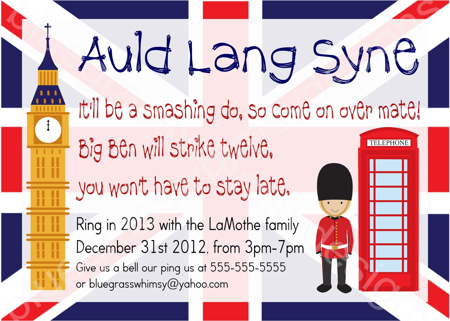 Kid Friendly New Year\'s Eve Party Auld Lang Syne British