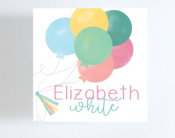Bunch of Balloons Gift Tag//Calling Card