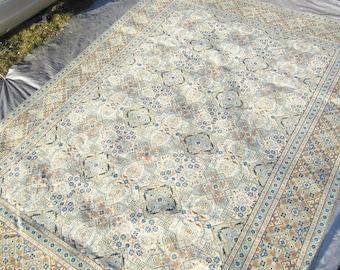 BLUE PALE GREEN 9.3x12.6 Keisari Persian Rug Area Rug
