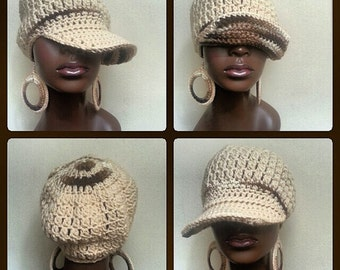Divine Being Crochet Cap and Earrings