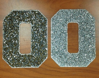 Iron-on Rhinestone Letters and Numbers - Customize or monogram ANYTHING