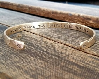 Mother of the Bride Gift - Wedding Party Gift - A Bride Today, Your Little Girl Forever - Mother of the Bride Bracelet - Mothers Bracelet