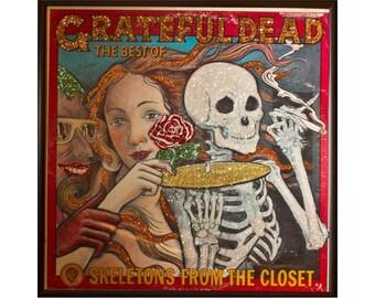 Glittered Grateful Dead Skeletons in the Closet Album