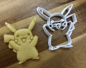 Pikachu - Pokemon 3D Printed Cookie Cutter