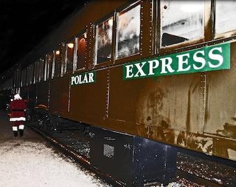 Fine Art Photography, Landscape , The Polar Express, Christmas wall art, Christmas wall decor