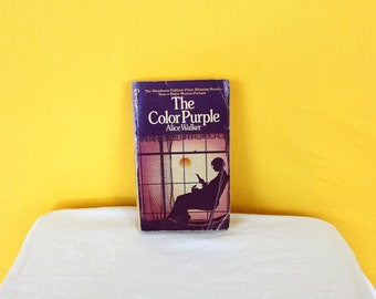 The Color Purple By Alice Walker. Rare 1985 First Printing With Movie Tie In Cover. Paperback Book. Classic LIterature Collectible Book.