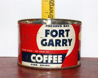 Vintage Hudson's Bay Fort Garry Coffee Tin