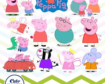 Peppa Pig Clipart, Peppa Pig PNG, Peppa Family Files, Printable Clipart,  Transparent