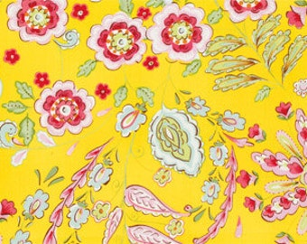 Dena Designs - Pretty Little Things Collection - Yellow Emma - 1/2 half yard cotton quilt fabric