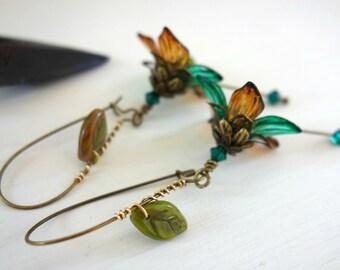Elven Earrings - Elvish Earrings - Woodland Fairy - Cosplay Jewelry - Elf Jewelry - Forrest Wedding - Elf Earrings - Cosplay Earrings Elf.