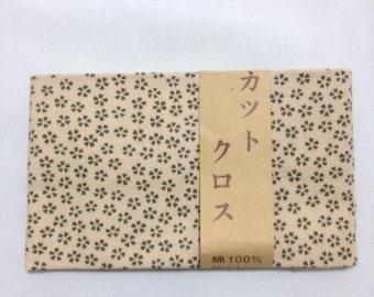 Green sakura fabric, Japanese fabric, Japanese cotton fabric,  japanese tradhitional pattern fabric,  DIY fabric, patchwork, FREE SHIPPING,