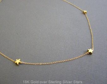 Tiny star choker necklace, Star Necklace, mamma mia necklace, Sofie's star necklace, Minimalist Necklace, Dainty star Necklace, gift for her