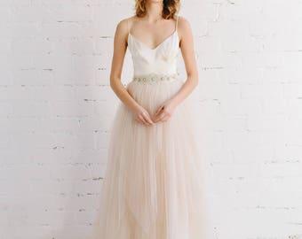 Simple wedding dress etsy simple wedding dress blush wedding dress bridal skirt bridal dress tulle wedding dress blush tulle skirt melissa junglespirit Choice Image