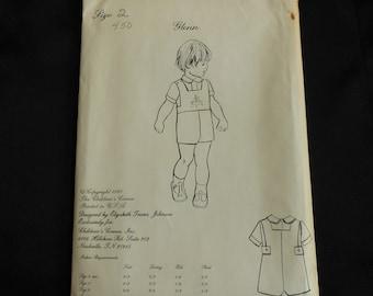 Unused Children's Corner pattern Glenn size 2 Sewing Pattern Boy Romper Overalls Sunsuit John-Johns w Detachable Bib plus Shirt 1980