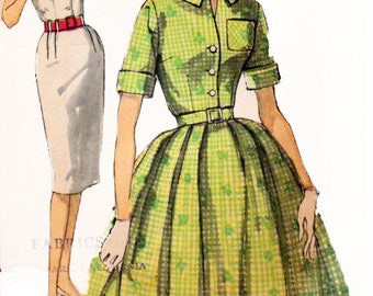 Simplicity 3486 Vintage 1960s Sewing Pattern Misses One Piece Dress  With Two Skirts Sewing Pattern