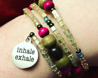 Inhale. Exhale. Bracelet