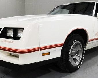 Kit Monte Carlo SS Chevrolet Chevy 1987-1988 Restoration Decals Stripes Logo