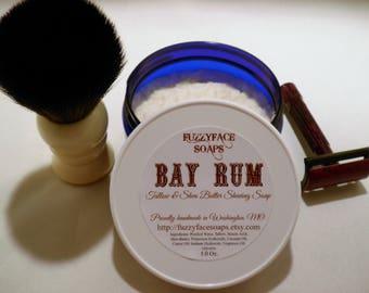 BAY RUM Luxury Tallow & Shea Butter Shaving Soap 5 oz Tub