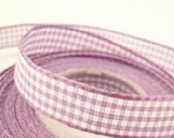 gingham Ribbon purple 20mm x 195cm
