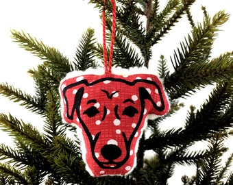 Fleecy Jack Russell Christmas Tree Decoration