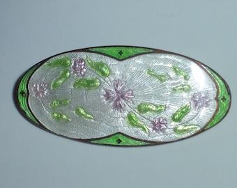 Vintage Genuine Floral Cloisonné Brooch / Pin