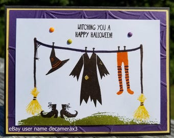 Handmade HALLOWEEN Greeting Card, STAMPIN' UP! Witch Tee-Hee-Hee