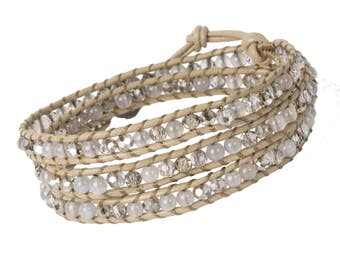 DIY Wrap Bracelet Kit - Sand (WRAP051)