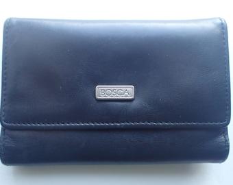 Bosca Bifold Wallet Black Leather