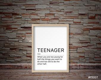 Teenager gifts, gifts for teenage boys, teenage boy gifts, teenage girl gifts, gifts for teenage girls, teenage bedroom decor  #FD007
