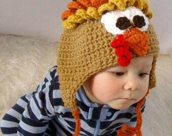Turkey Hat Crochet Pattern PDF 536